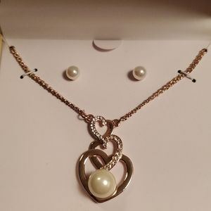 Charter Club 3 heart necklace set